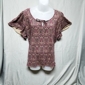 Chaps purple paisley top womens plus size 3X